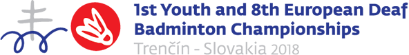 logo 1st Youth & 8th European Deaf Badminton Championships